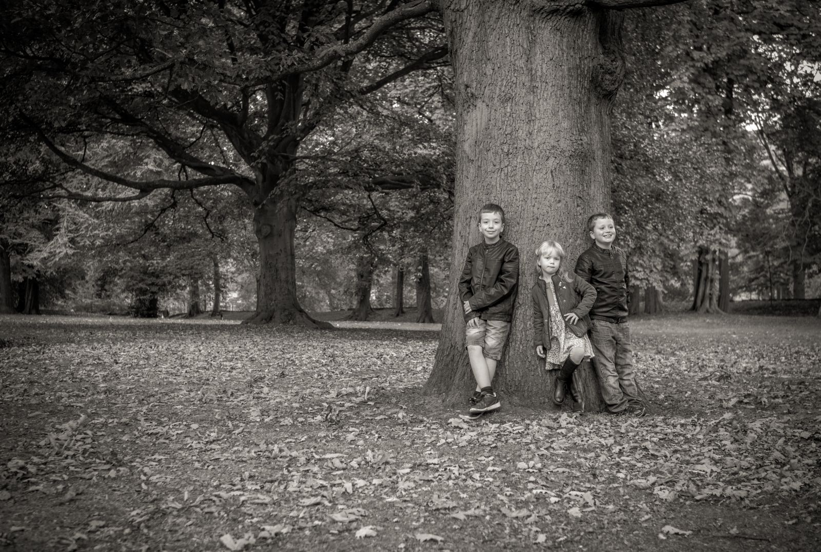 Kids At Cliffe Castle gardens 5.10.14
