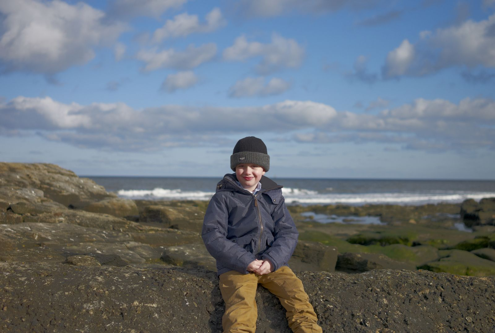 M On The rocks near St Mary's lighthouse causeway (M8   Summarit 35mm f2.5)