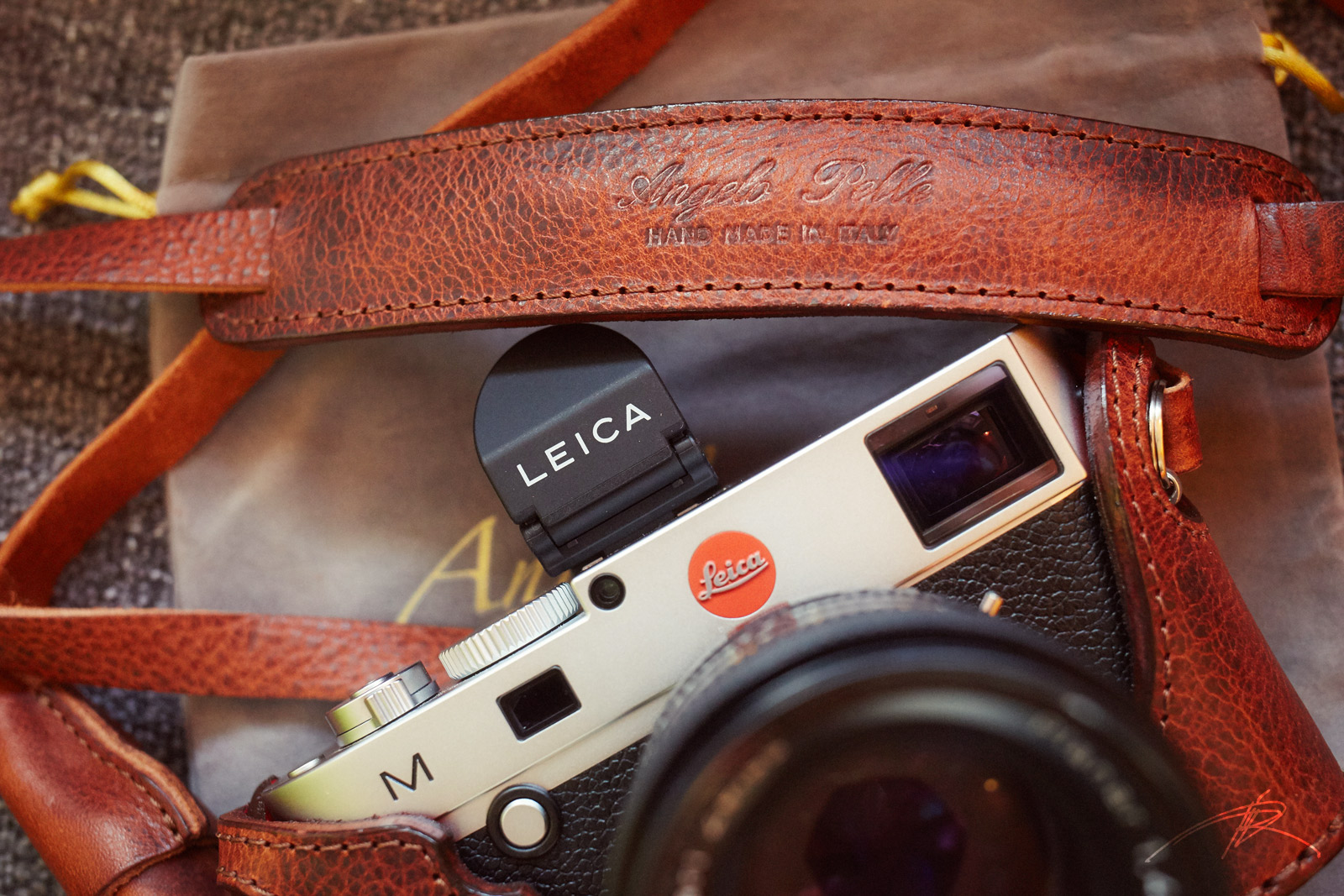 Leica M240 with Angelo Pelle half case