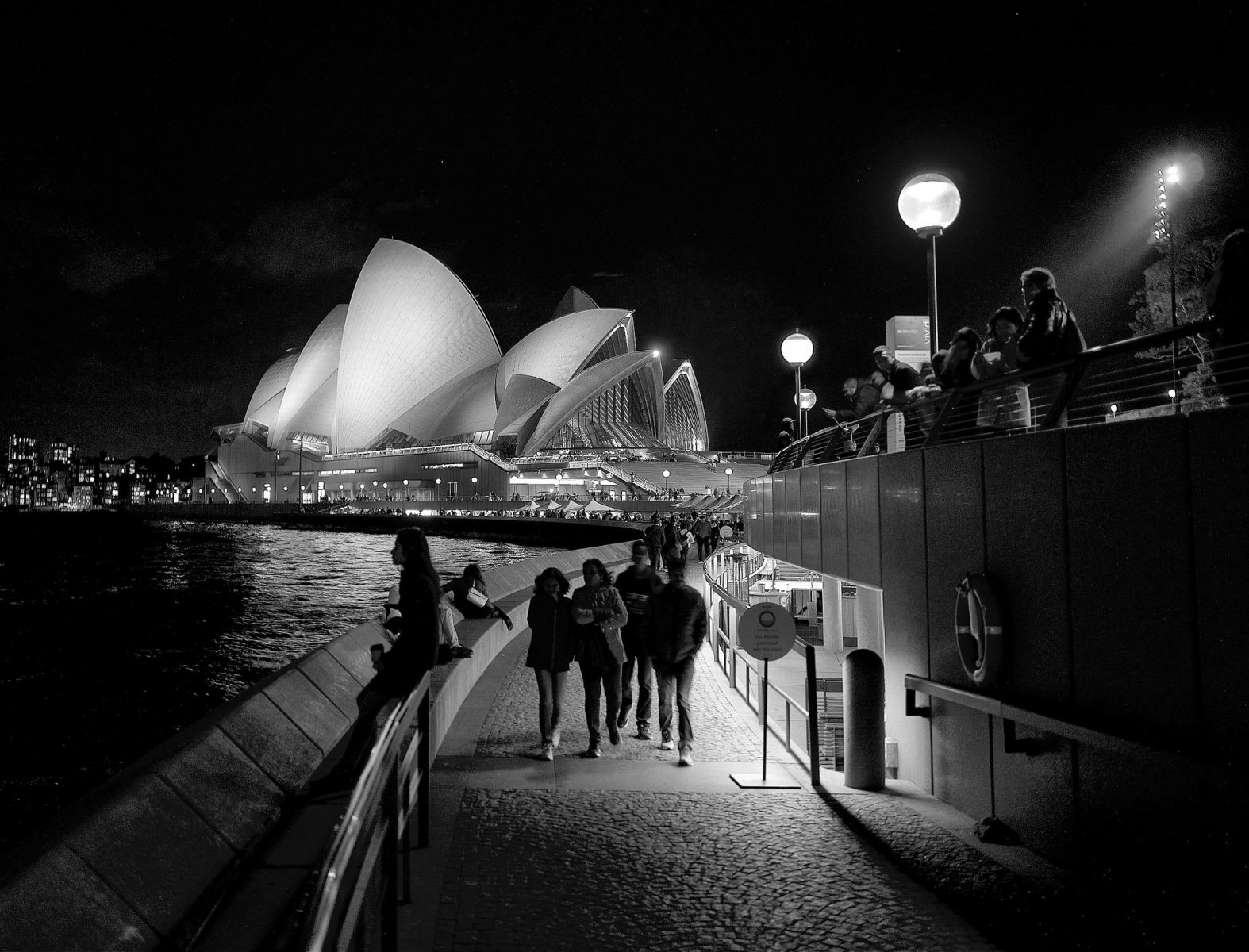 Sydney Opera House at Night (monochrome)