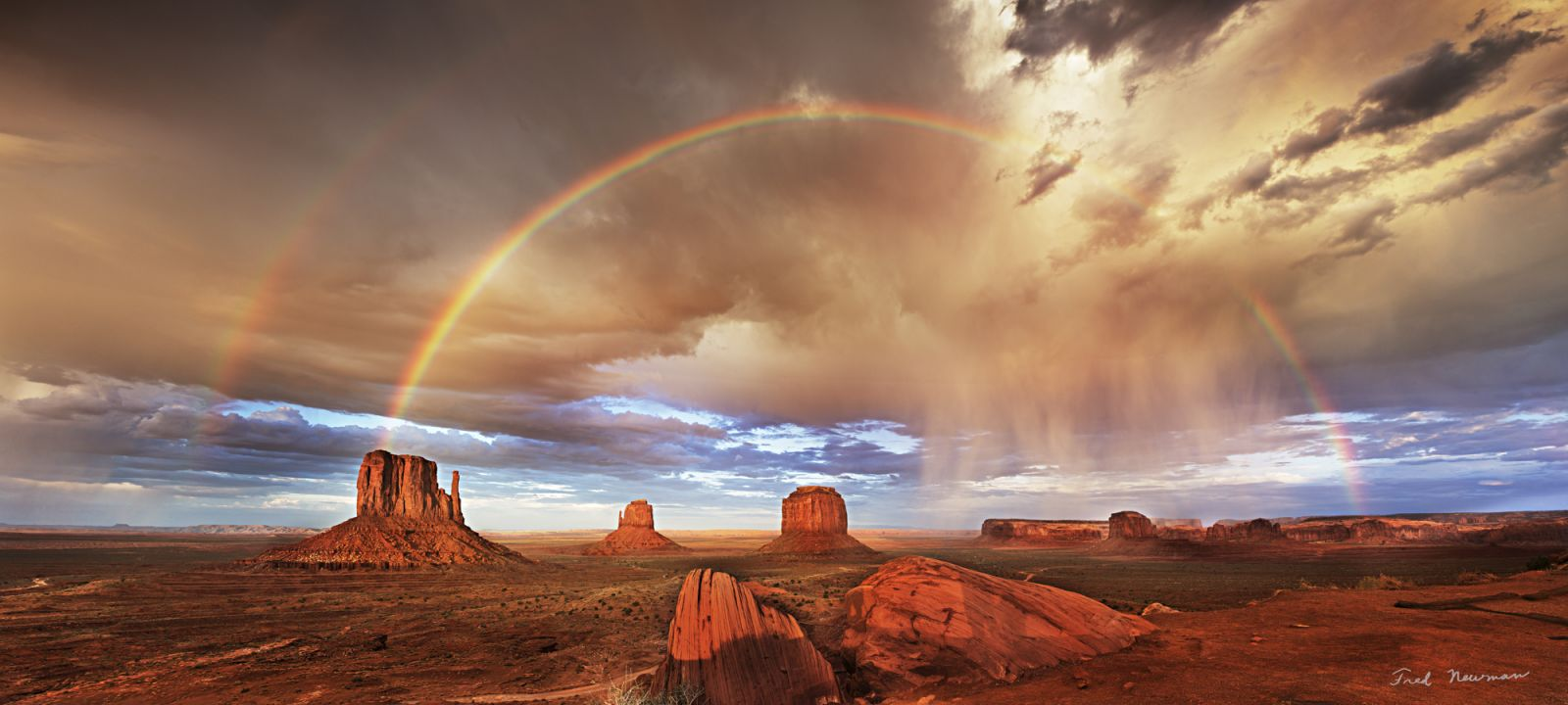 Monument Valley Double Rainbow