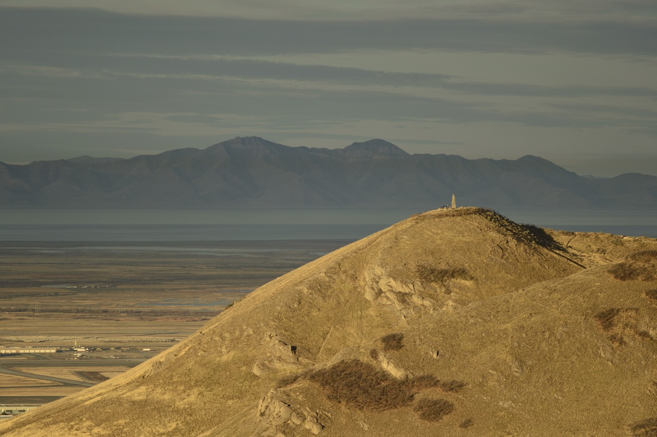 Ensign Peak, The Great Salt Lake and Stansbury Island