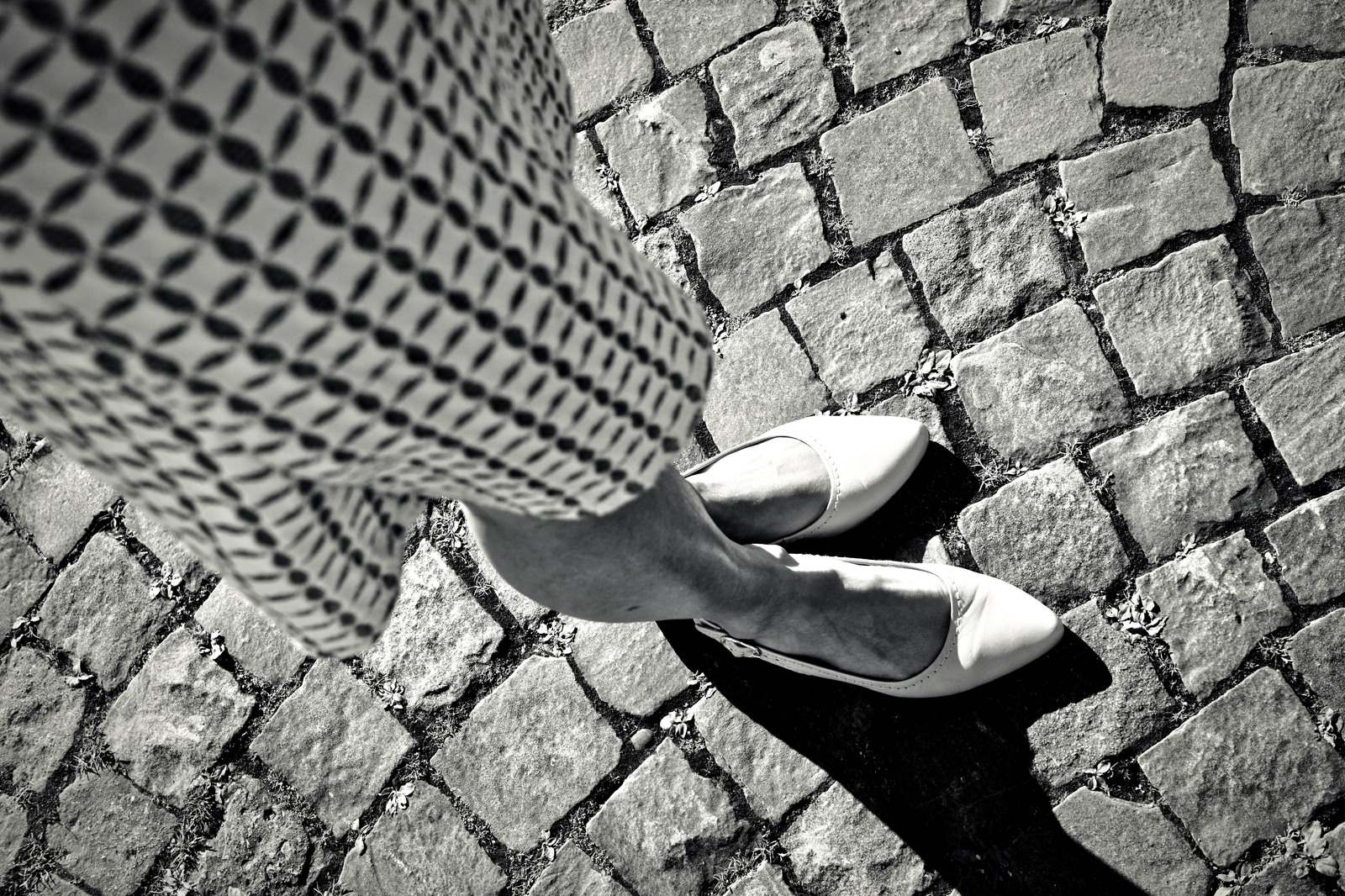 Street Pattern and White Shoes